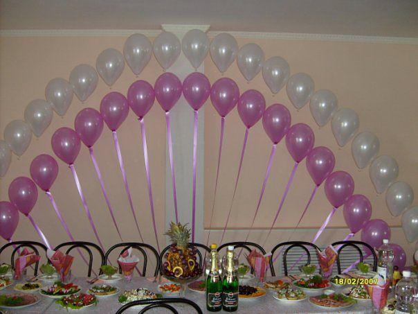 Простая арка из шаров